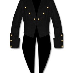 Banned Cotton Tailcoat Steampunk Goth Victorian Swallowtail Jacket