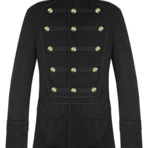 Black-Military-Jacket-Goth-Steampunk-Vintage-Pea-Coat-Front-510×600