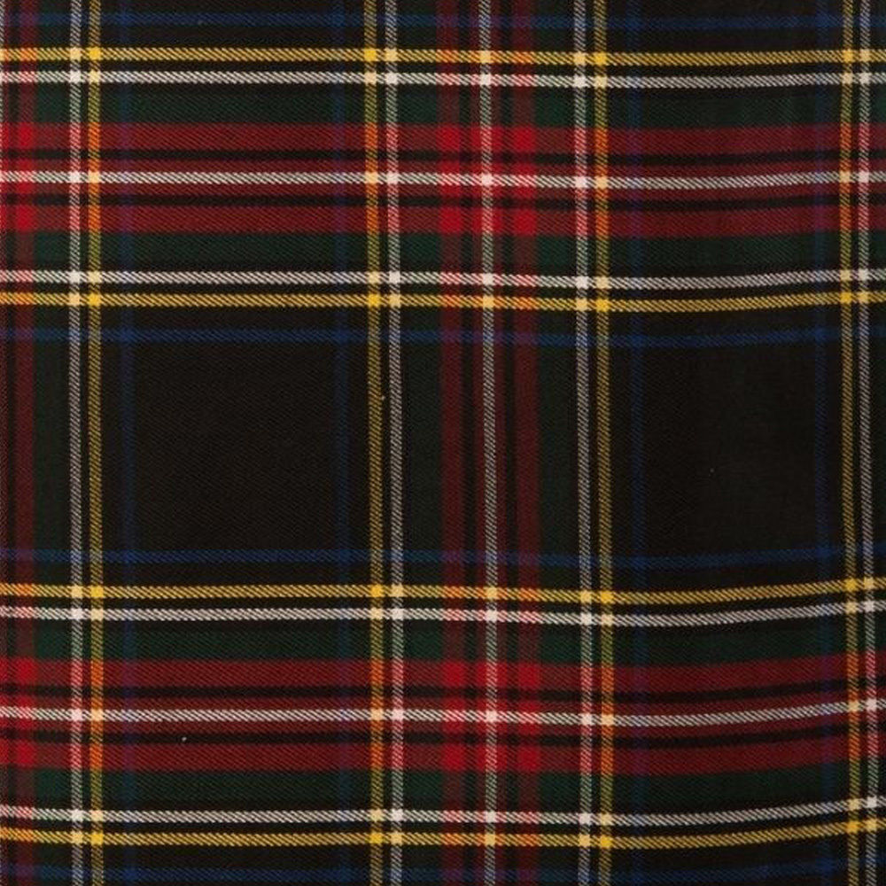 Black-Stewart-Tartan-Kilt-Cloth