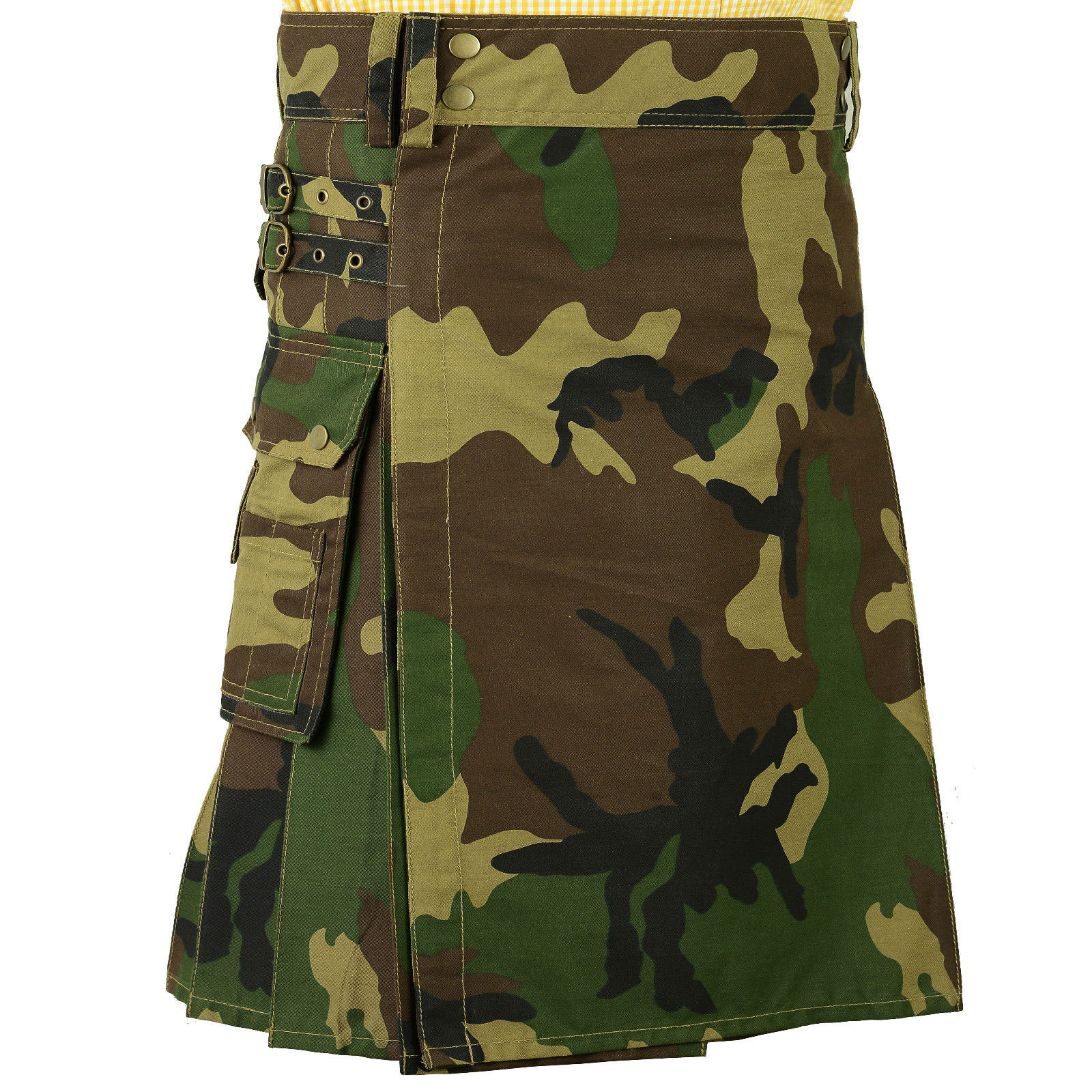 Deluxe-Army-Tartan-Goth-Camo-Kilt-Front