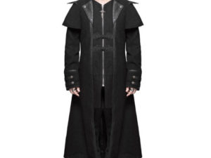 Devil Fashion Mens Coat Long Jacket Black Gothic Steampunk Dieselpunk Highwayman