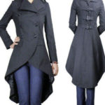 Gothic Punk Long Black Fishtail CoatLong Jacket (1)