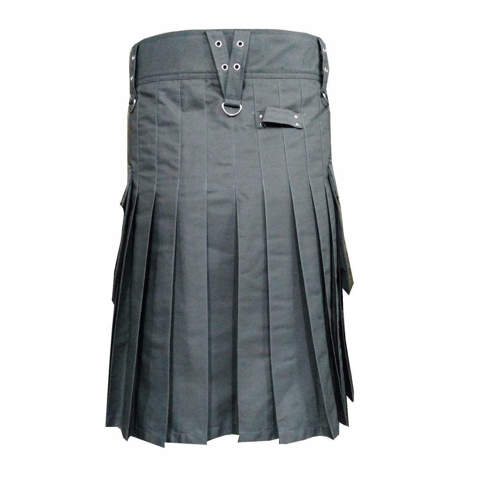 Gray-Scottish-Utility-Sports-Traditional-Kilt