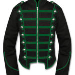 Green Black Military Marching Band Drummer Jacket New Style (1)