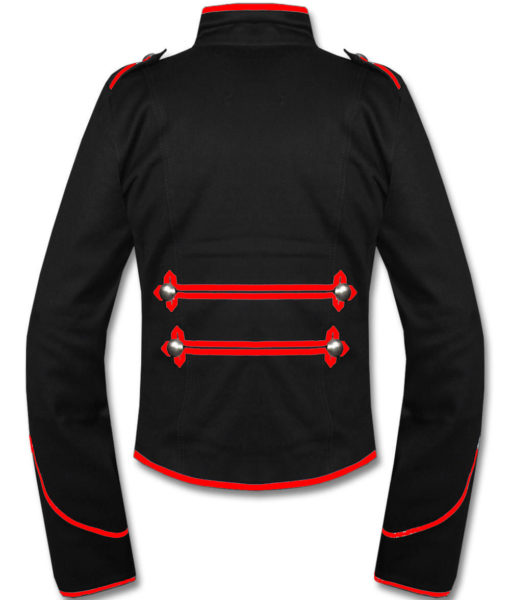 Mens-Red-Black-Military-Marching-Band-Drummer-Jacket-New-Style-Back-510×600