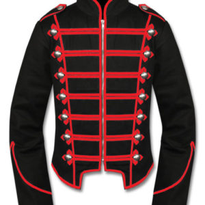 Red Black Mens Military Drummer Jacket New Style