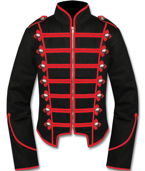 Mens-Red-Black-Military-Marching-Band-Drummer-Jacket-New-Style-Front-510×600