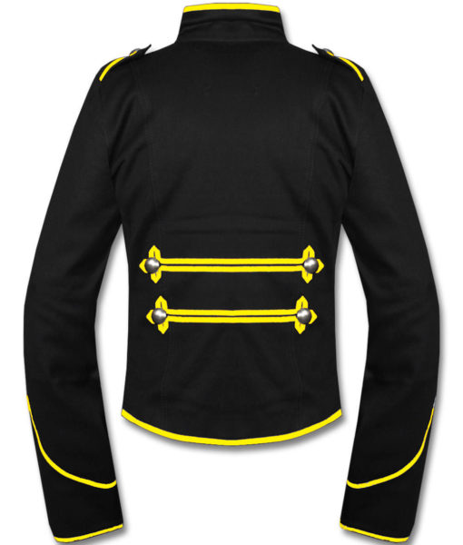 Mens-Yellow-Black-Military-Marching-Band-Drummer-Jacket-New-Style-Back-510×600