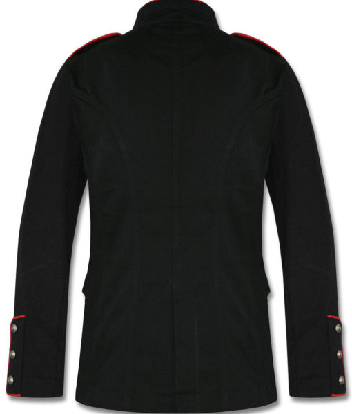 Military-Jacket-Black-Red-Goth-Steam-punk-Army-Officer-Pea-Coat-Back-510×600
