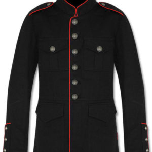 Military-Jacket-Black-Red-Red-Goth-Steam-punk-Army-Officer-Pea-Coat-front-510×600