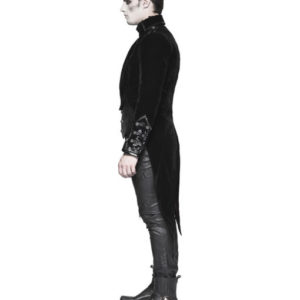 Punk Rave Mens Tailcoat Jacket Black Velvet Gothic Steampunk Vampire Swallowtail