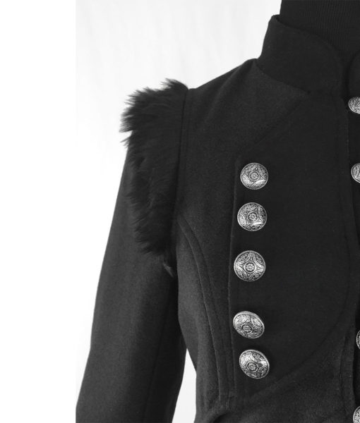 RQBL-Womens-Military-Coat-Jacket-Black-Tailcoat-Gothic-VTG-Steampunk-buttons-510×600