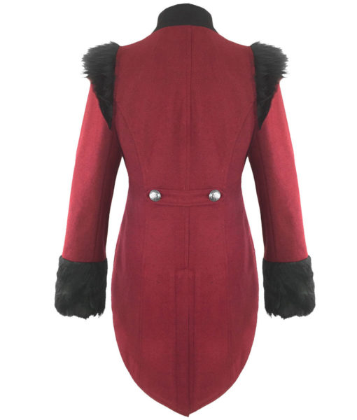 RQBL-Womens-Military-Coat-Jacket-Red-Black-Tailcoat-Gothic-VTG-Steampunk-back-510×600