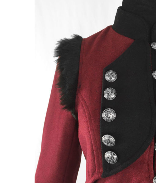RQBL-Womens-Military-Coat-Jacket-Red-Black-Tailcoat-Gothic-VTG-Steampunk-closeup-510×600