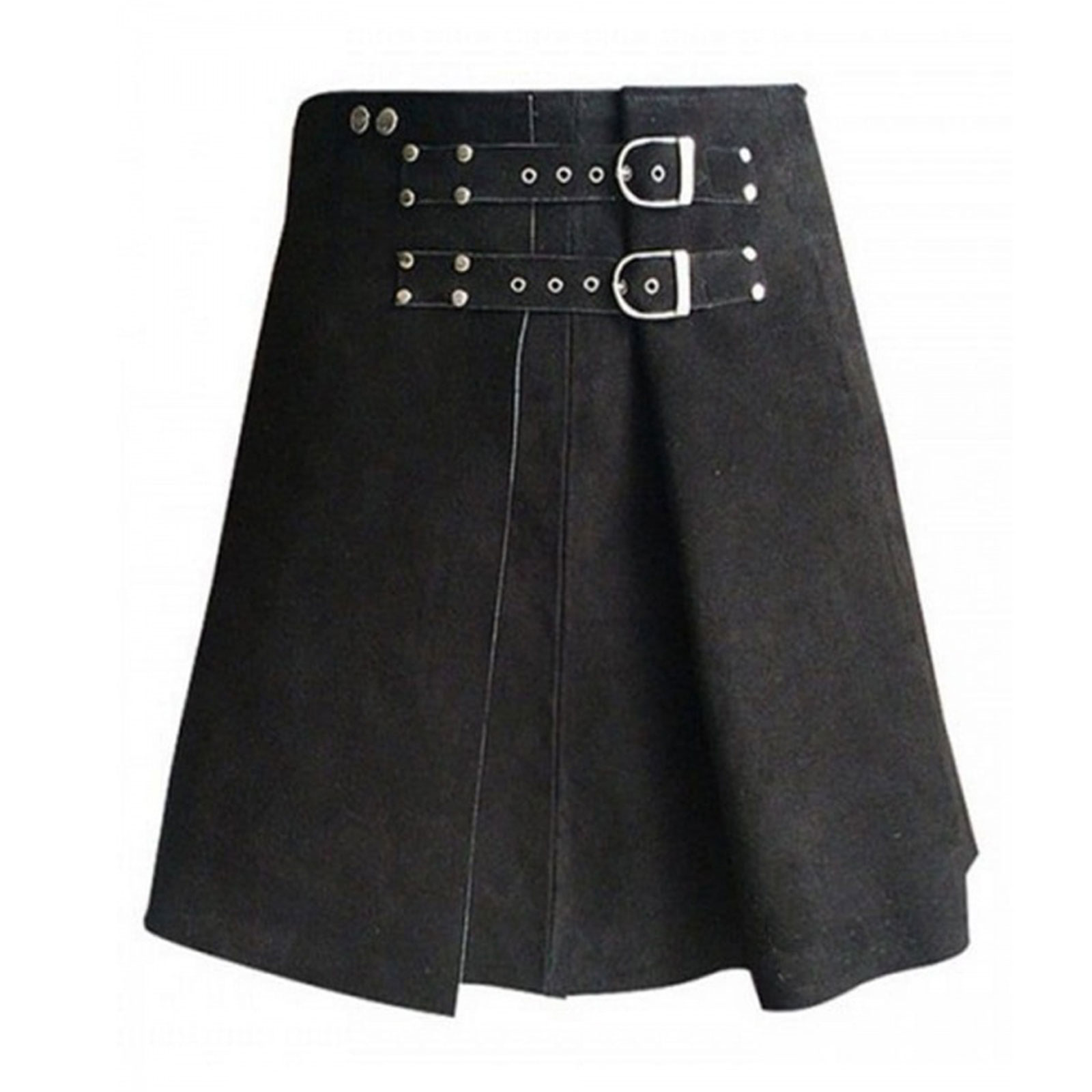 Roman Gladiator Leather Kilt Front