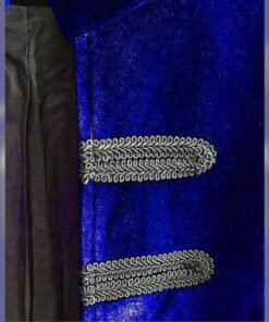 Royal Blue Velvet Goth Steampunk Victorian Frock Coat Jacket