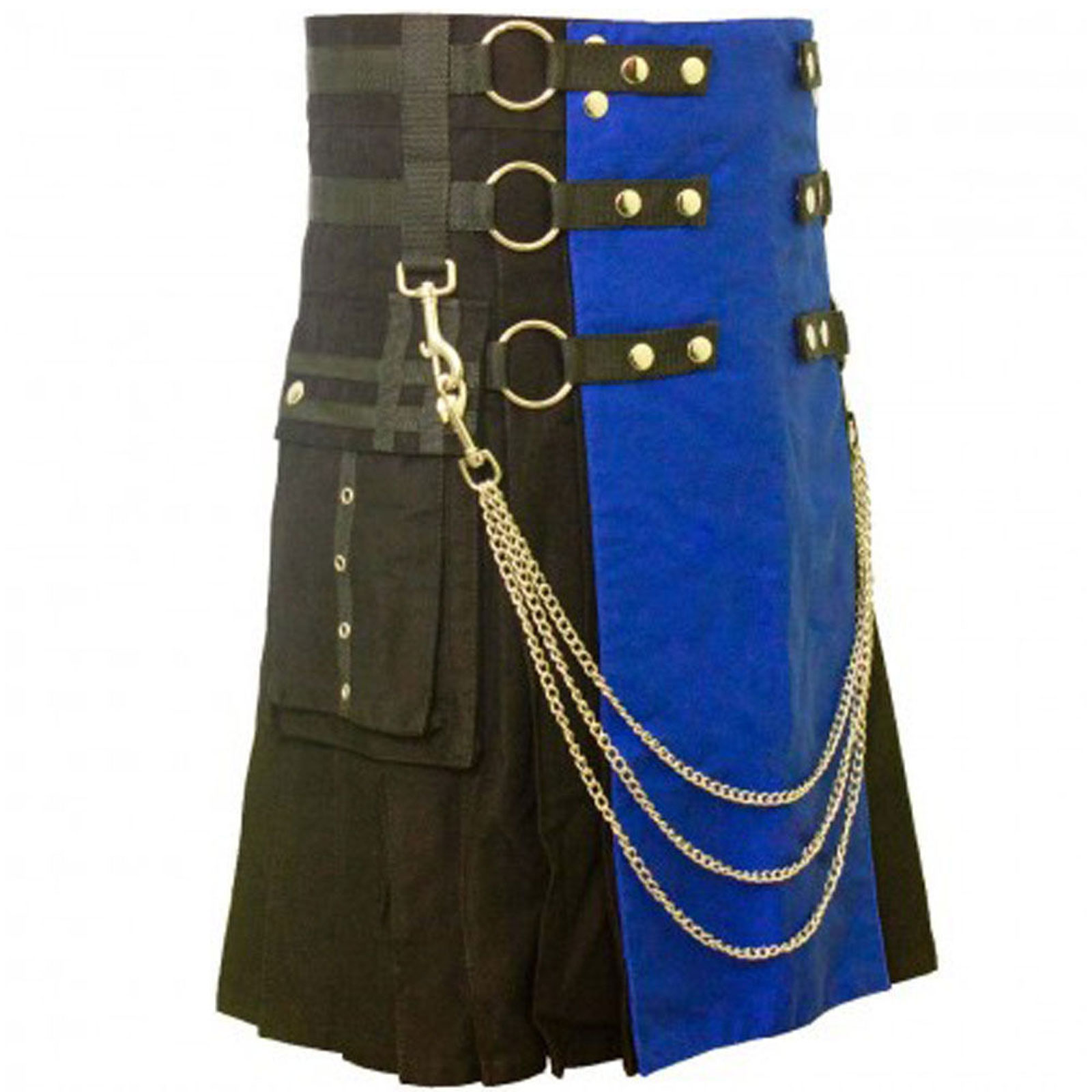 Scottish-Black-Blue-Utility-Kilt