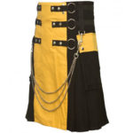 Scottish-Yellow-Black-Kilt