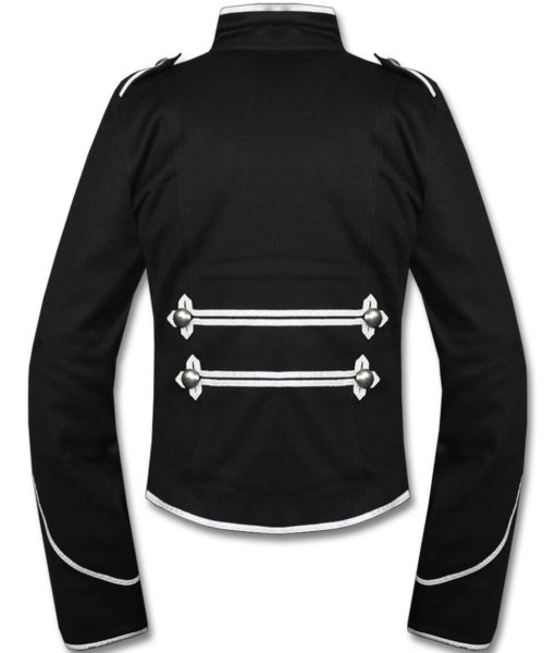 Silver Black Military Marching Band Drummer Jacket New Style (1)