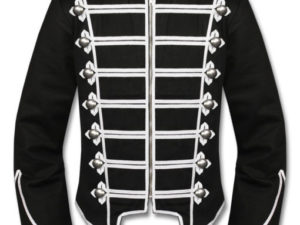 Silver Black Mens Military Drummer Jacket New Style