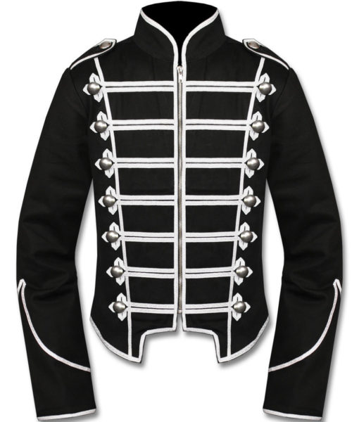 Silver Black Military Marching Band Drummer Jacket New Style (2)