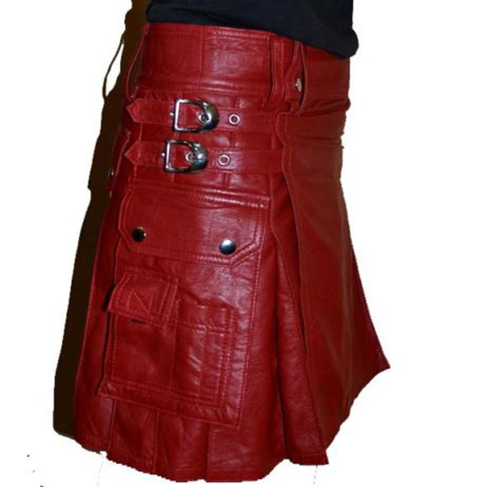 Leather Gladiator kilt Scottish Warrior kilt Pleated Style