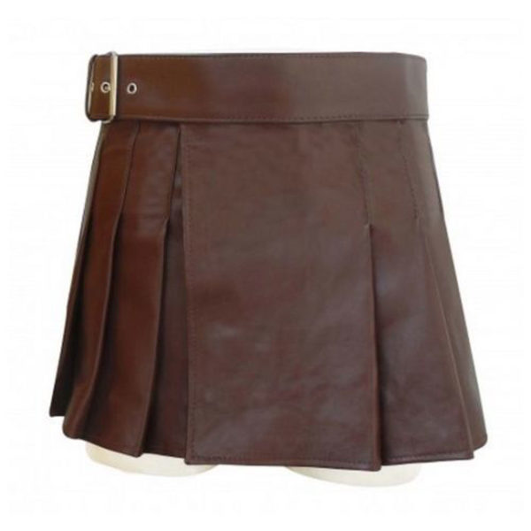 scottish-black-leather-highland-gladiator-viking-utility-kilt-front