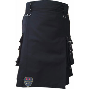 scottish-deluxe-utility-sports-traditional-black-kilt-front