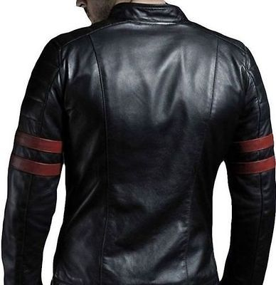 Men Retro Hybrid Mayhem Brad Pitt Black Genuine Leather Jacket (2)