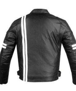 Biker Leather Jacket with Armors