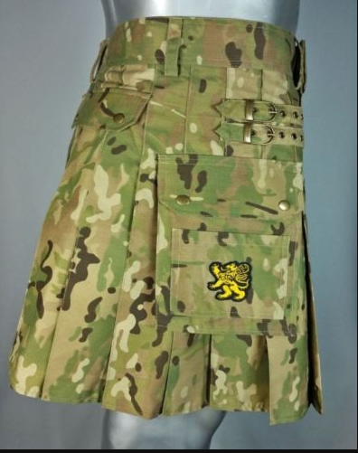 Army Green Camouflage Kilt (1)