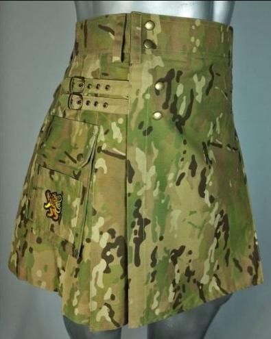 Army Green Camouflage Kilt (2)