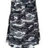 Urban White and Black Camo Army Kilt (1)