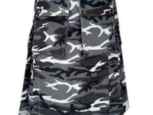Urban White and Black Camo Army Kilt