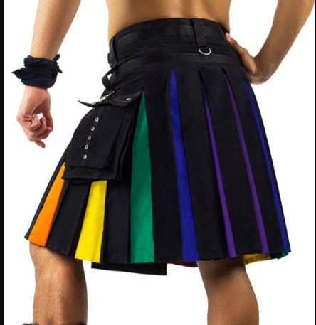 rainbow kilt for sale mens