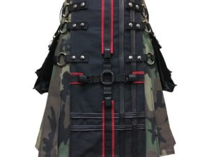 Interchangeable Camouflage Utility Gothic Kilt
