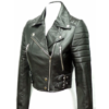 Cropped Leather Biker Jacket (1)