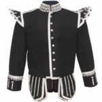 Black Fancy Doublet Piper Jacket