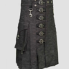 Heavy Denim Kilt with Straps 1