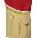 Red Buff Fancy Doublet Piper Jacket with Gold Trim3