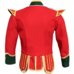 Red Green Fancy Doublet Piper Jacket with Gold Trim2